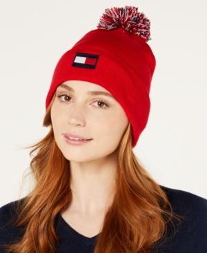 4f412494b Tommy Hilfiger Pom Pom Ski Hat - Red | Products | Ski hats, Hats ...