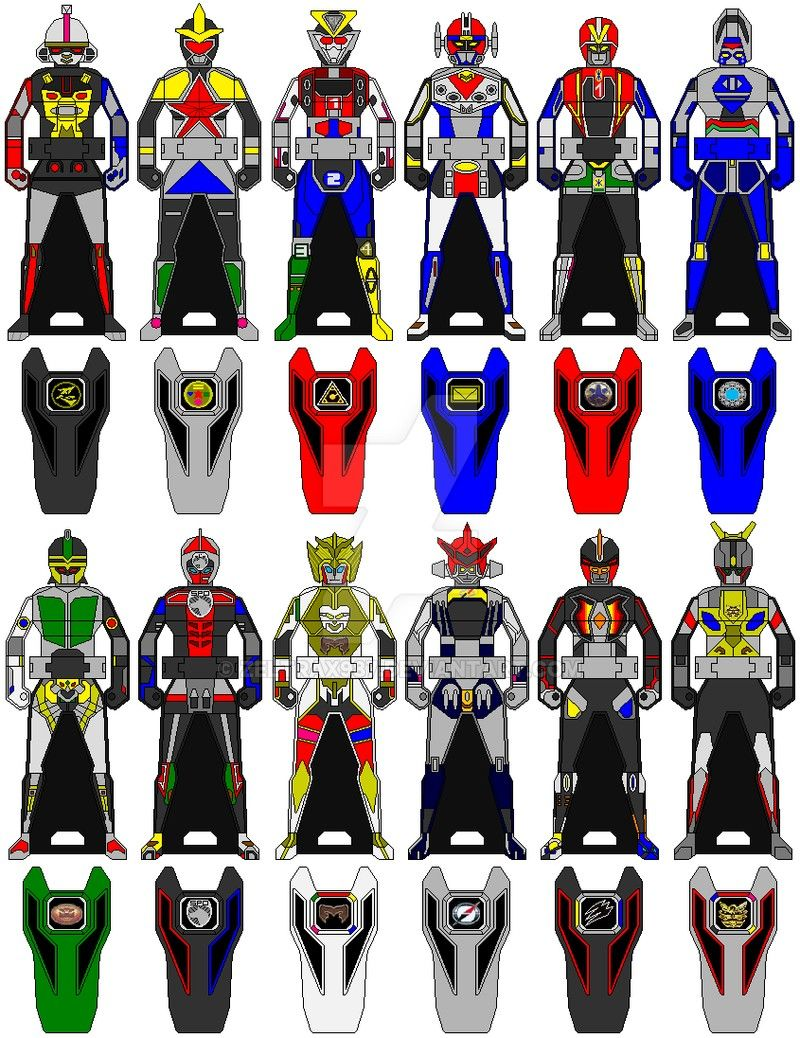 Megazords keys Power rangers, Ranger, Kamen rider