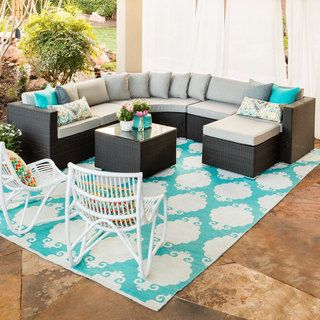 Brewster 5 Piece Sofa Set (Brewster Sofa Set), Black, Patio Furniture  (Rattan)