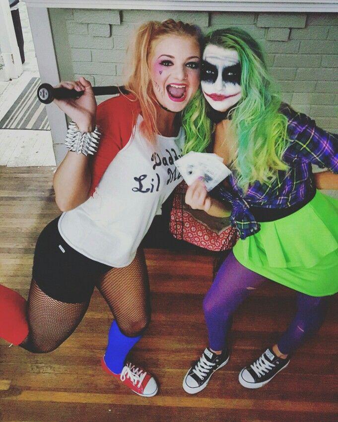 Halloween Joker And Harley Quinn Costumes.Harley Quinn And The Joker Diy Costumes Best Friend Costumes
