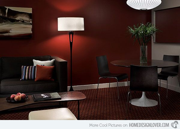 15 mesmerizing maroon living room walls living rooms for Black and burgundy bedroom ideas