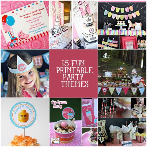 15 Fun Party Printable Themes for Your Kid's Next Party via @BabbleEditors