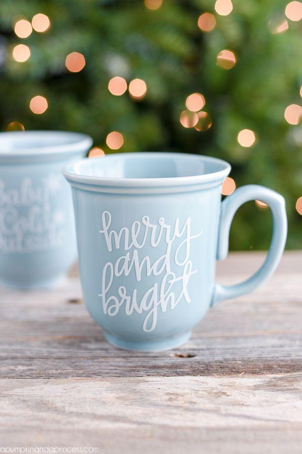 DIY Christmas Coffee Mug