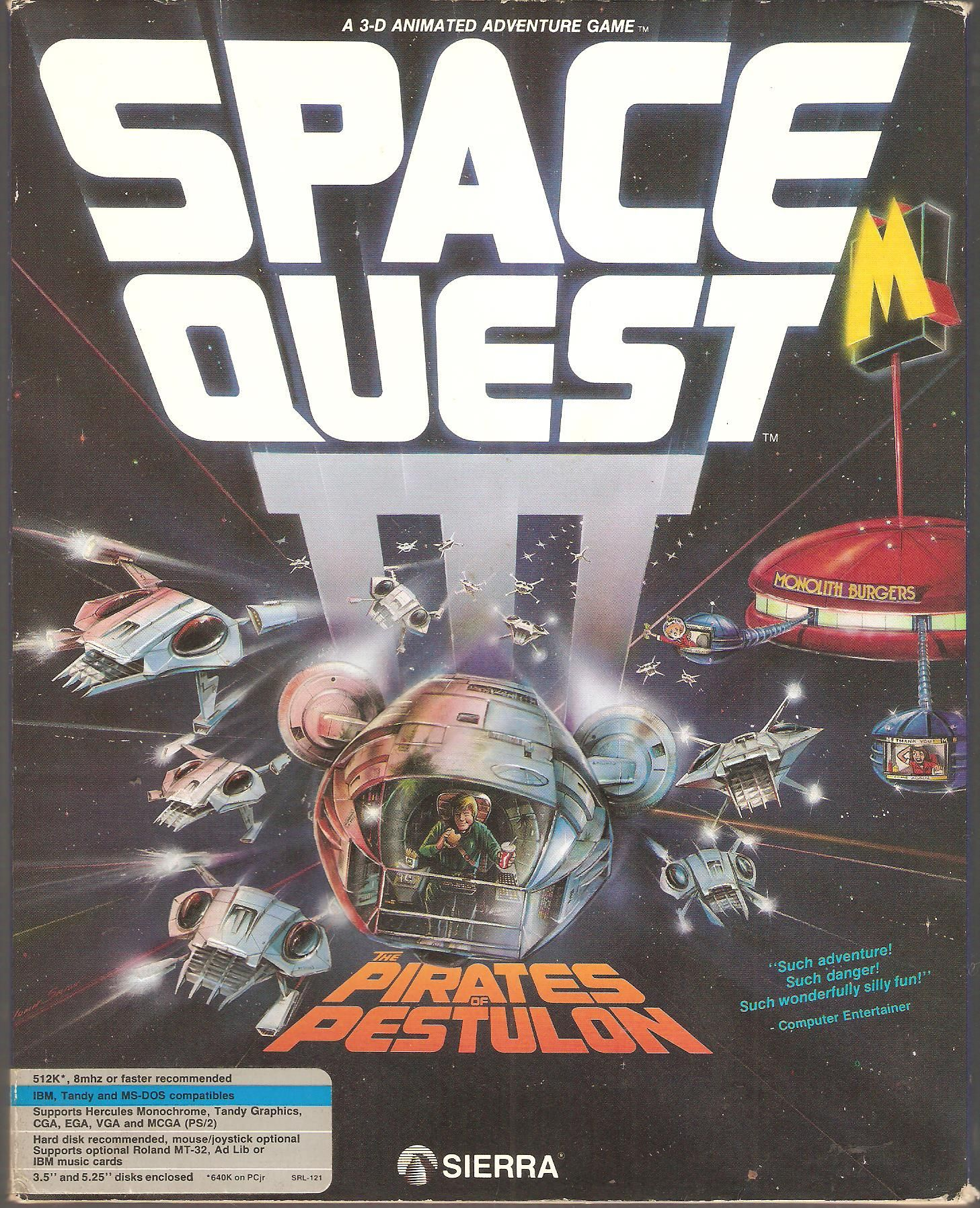 Space Quest III. Classic video games, Games, Vintage