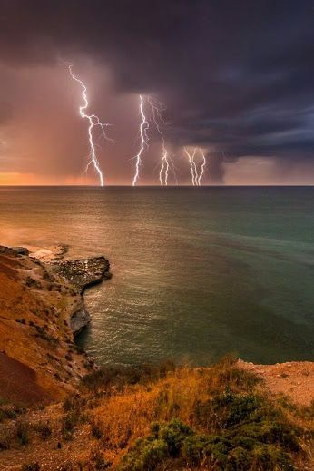 Lightning Storm over the bay.