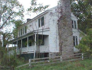 The Robert Preston house, built around 1780. Bristol Virginia