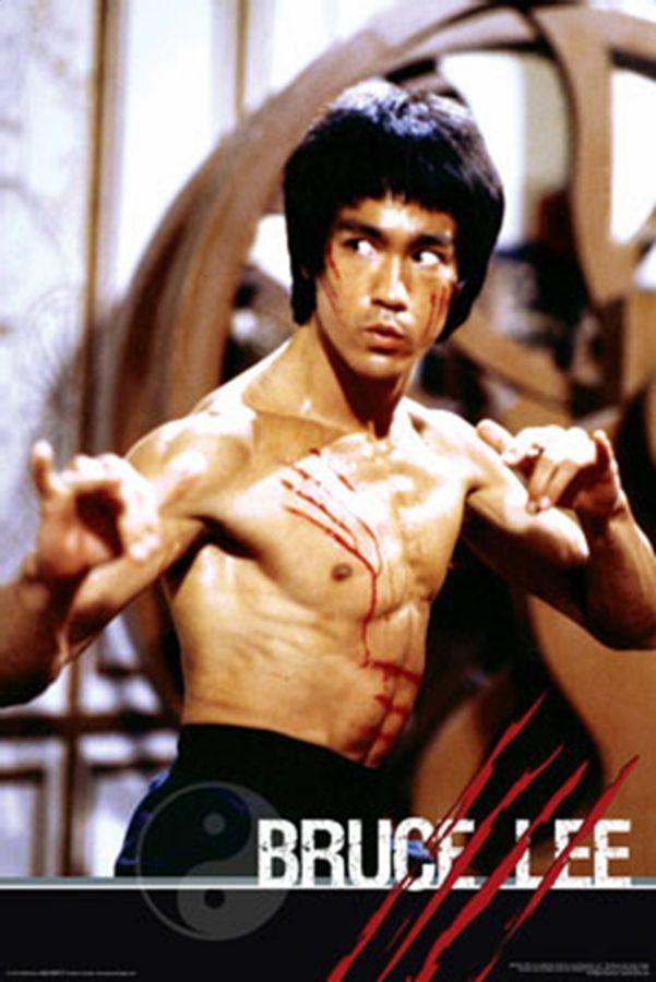 Bruce Lee Nunchucks Poster Movie Martial Arts