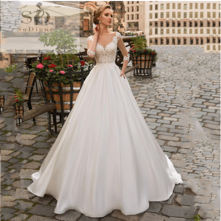 Affordable Wedding Dresses On Aliexpress 2020 Satin Wedding Gown Boho Bride Dress Making A Wedding Dress