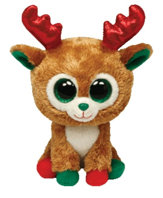 Alpine Reindeer Beanie Boo  Red   Green  www.ty.com  376ccbfefdc8