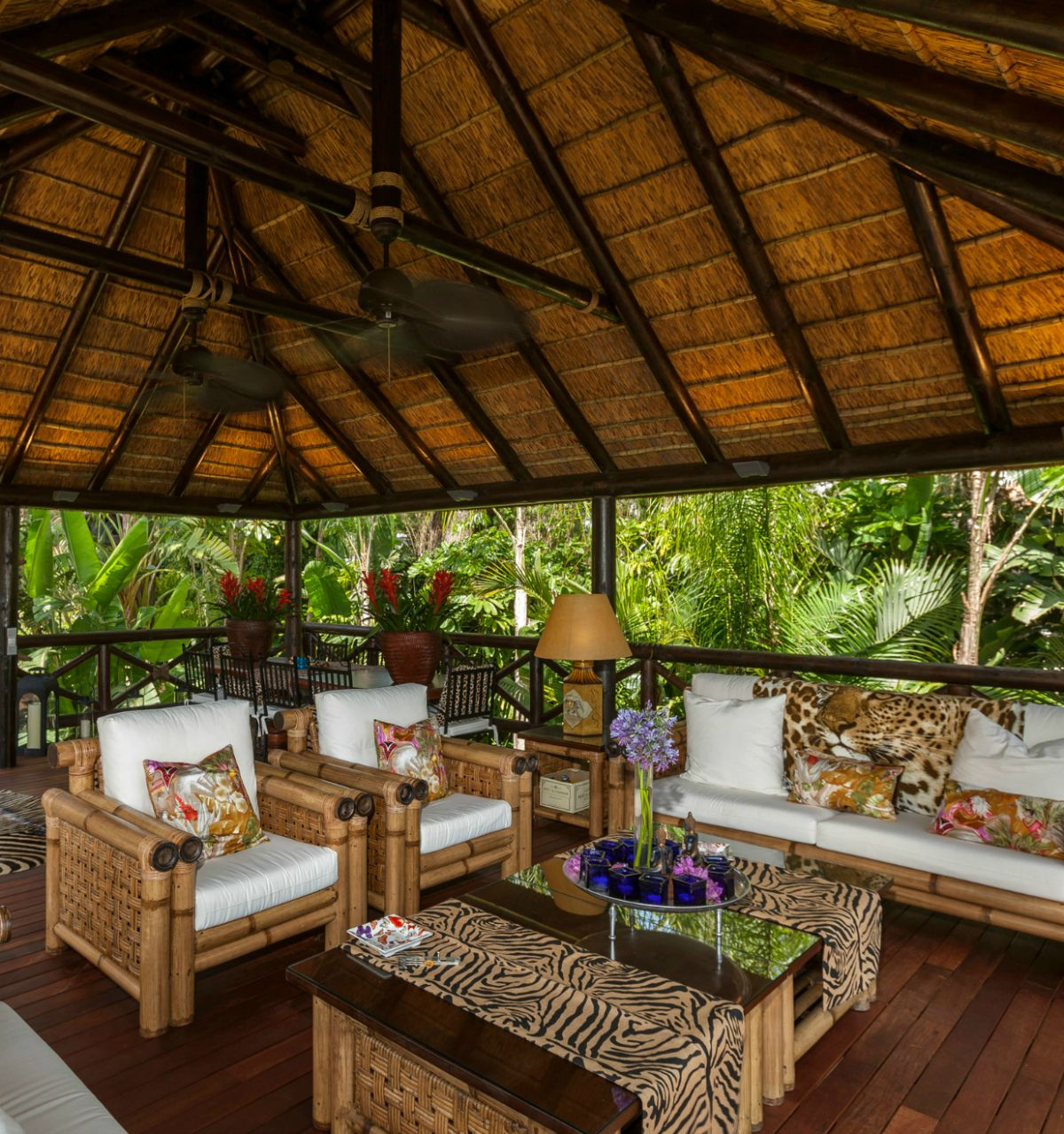 Outdoor Kitchen With Thatched Gazebo Outdoor In 2019: African Inspired Decor With Thatched Gazebo. Perfect For