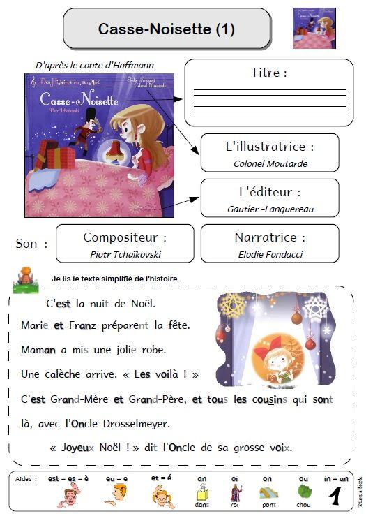 Casse-noisette fiche lecture 1 | Casse noisette | Casse ...