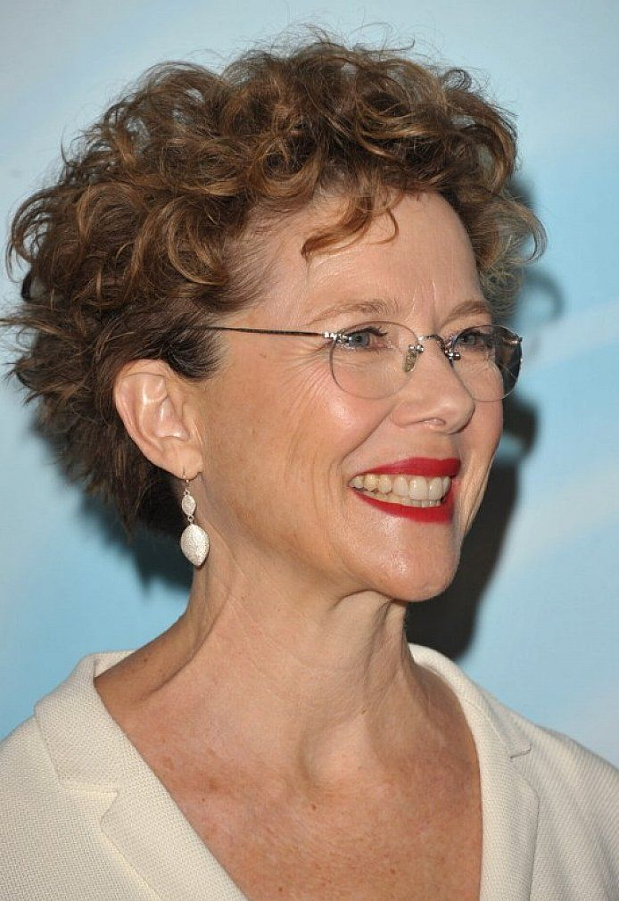 short curly hairstyles for women over 50 with glasses | Kennedy ...