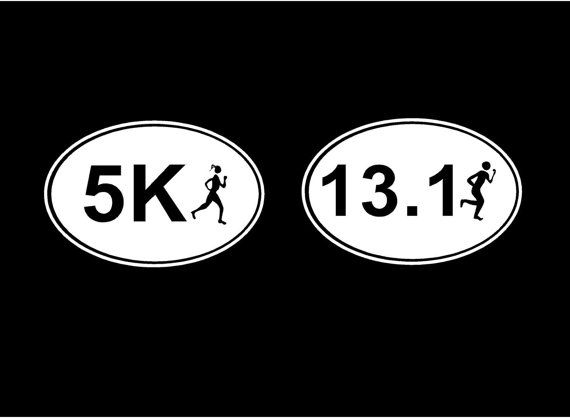 Marathon Decal Oval With Runner Car Decals Vehicle Auto Window - Custom vinyl oval decals