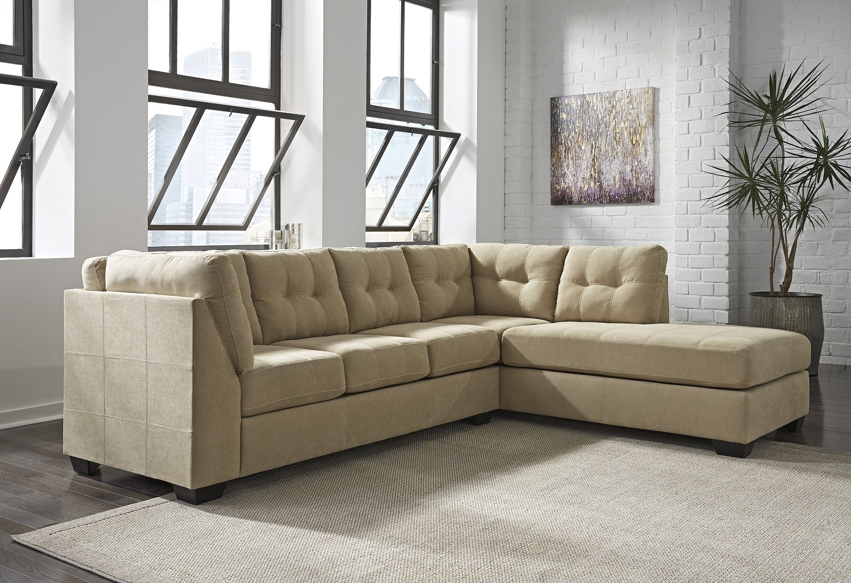 Maier Sectional Sofa 45203 17 By Ashley Furniture Sleek Design Urban Style  Cocoa Upholstery