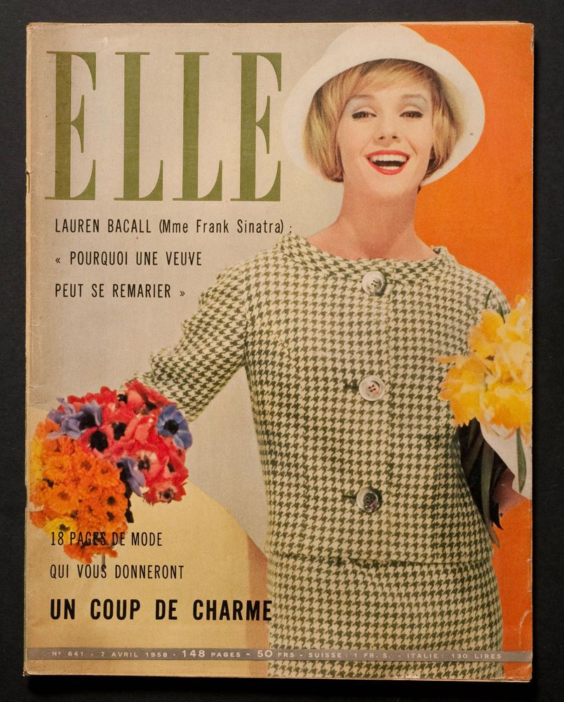 ELLE\' FRENCH VINTAGE MAGAZINE EASTER ISSUE 7 APRIL 1958 in Books ...