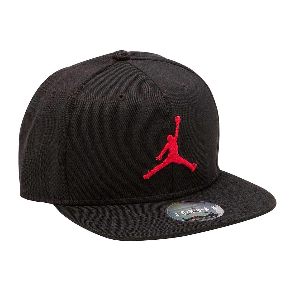 6984f3d56 JORDAN JUMPMAN Snapback Cap BLACK UNIVERSITY RED