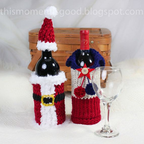 Wine Bottle Covers Loom Knitting Pattern Six By Thismomentisgood