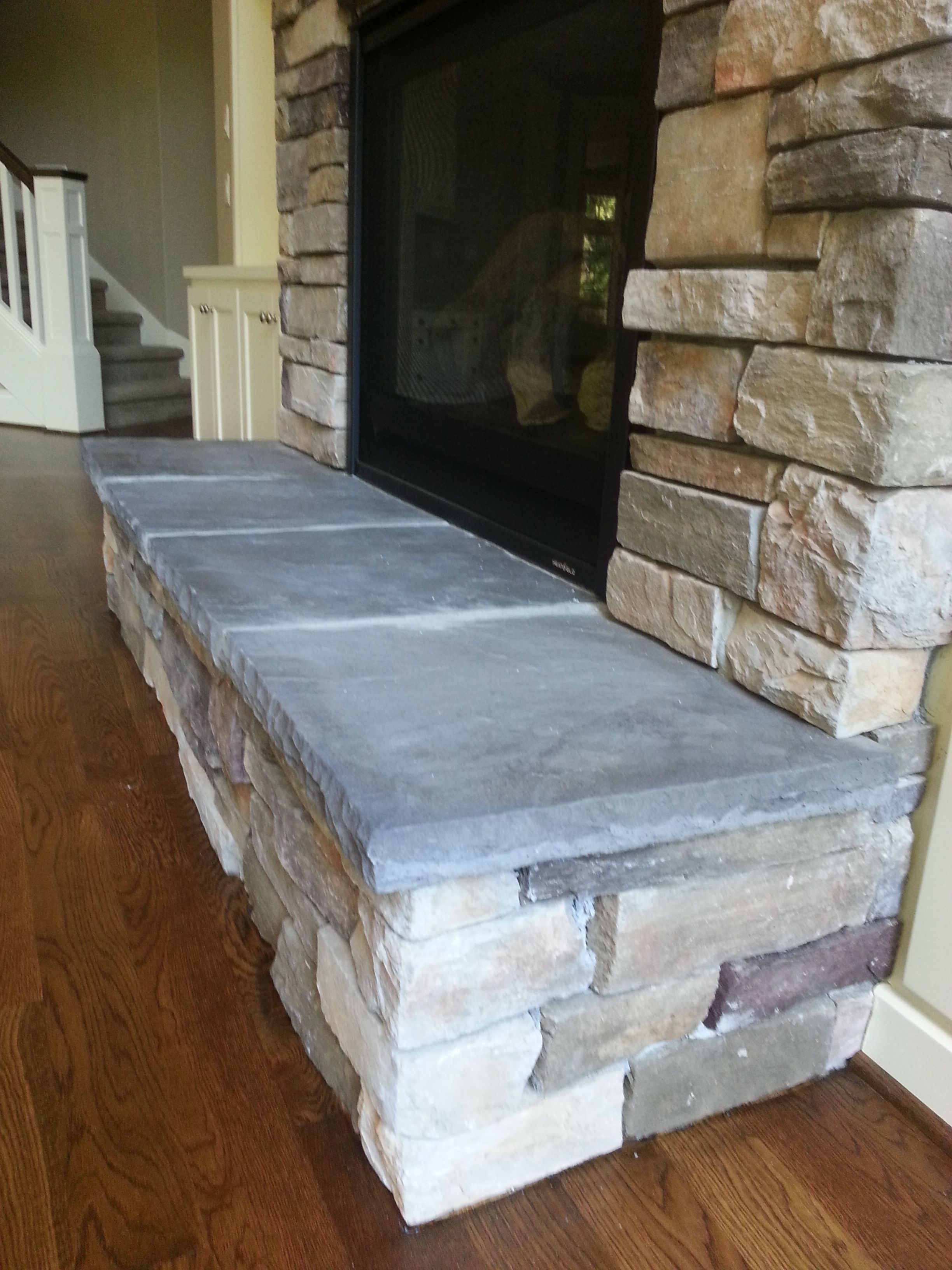 Fireplace New Construction Cultured Stone Raised Hearth Built Ins Around Fireplace Living Room Hardwo Built In Around Fireplace Fireplace Hearth Fireplace