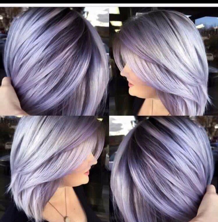 Shadow Root Lavender Hair Colors Silver Lavender Hair Metallic Hair
