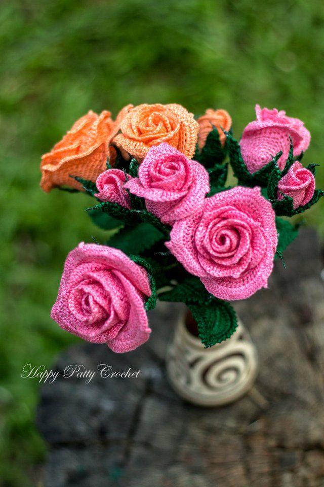 Crochet Spray Roses by Happy Patty Crochet | Happy Patty Crochet ...