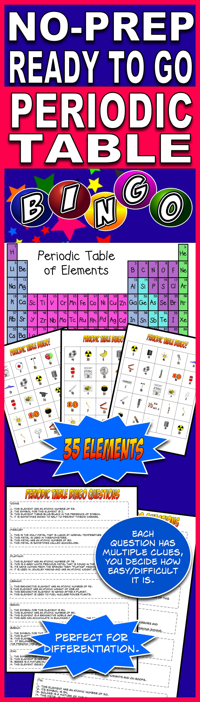 Periodic Table Bingo In 2018 Science Classroom 5th Grade
