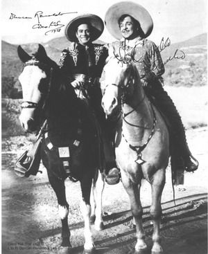 Cisco Kid With Pancho On Horses