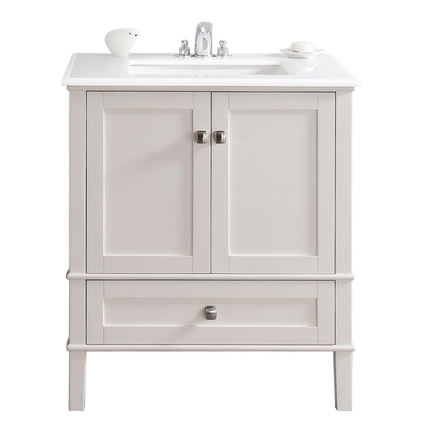 31 inch bathroom vanity. Simpli Home Chelsea White (Common: X Undermount Single Sink Birch Bathroom Vanity With Engineered Stone Top (Actual: 31 Inch