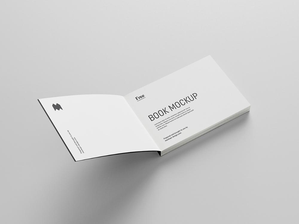 Free Landscape Book Mockup Mockups Design Free Mockup Mockup Design Mockup