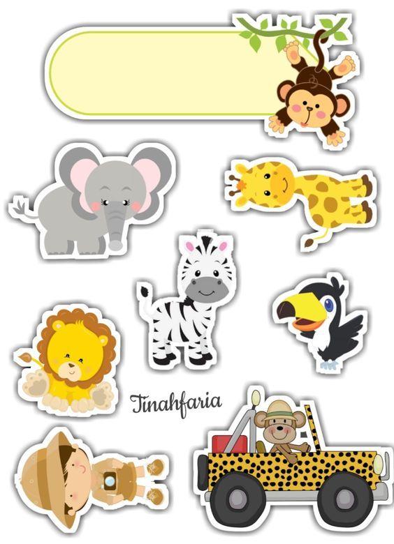 Topo De Bolo Safari Para Editar E Imprimir Gratis Mimo Kids