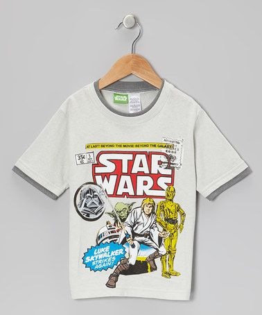 Take a look at this Gray Vintage Luke Skywalker 'Star Wars' Tee - Kids by Star Wars on #zulily today!