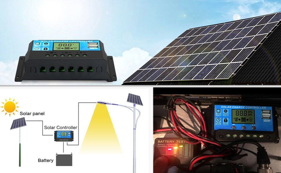 Model 3 Piece 300 Watt 12v Solar Panel Generator Kit With 1 Kw Pure Sine Wave Inverter Solar Energy Panels Solar Panels Solar Kit