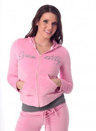 Pink Velour Sweat Suit Hoodie Jogging Suit Sweat Suit Active Wear
