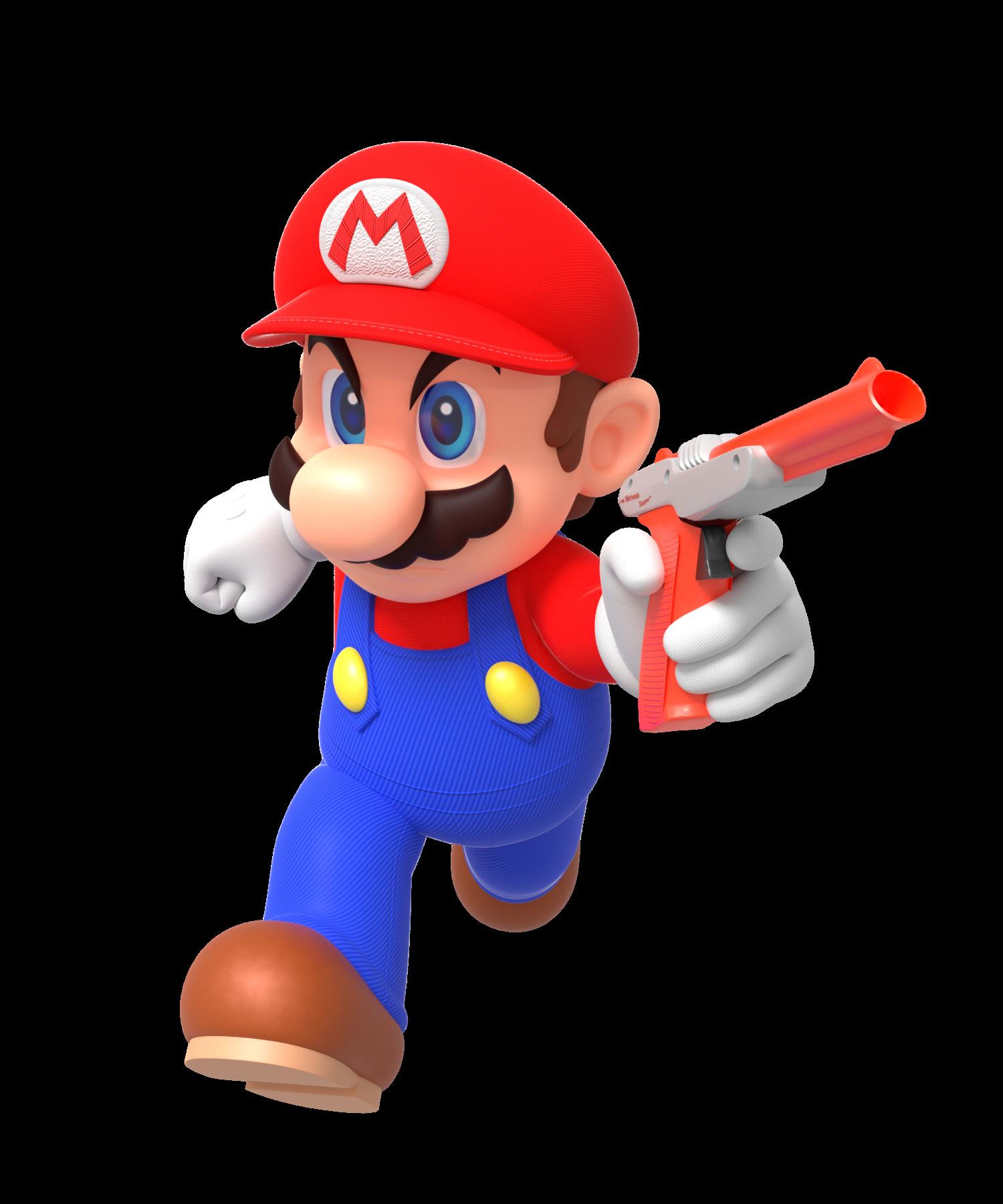 Mario With Nes Zapper By Nintega Dario On Deviantart Super Mario Bros Super Mario Mario