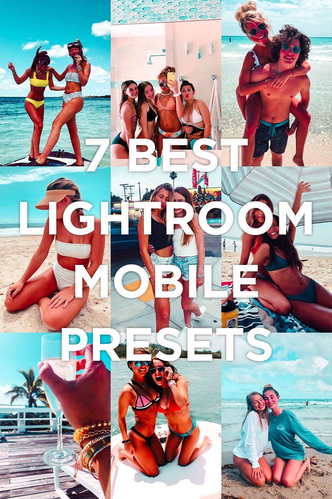 7 Mobile Lightroom Presets Arashi Lightroom editing