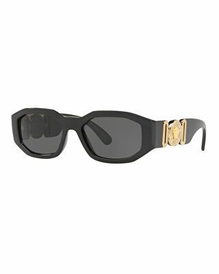fc95d0254eb6 Versace Designer Chunky Rectangle Sunglasses w/ Logo Disc Arms ...