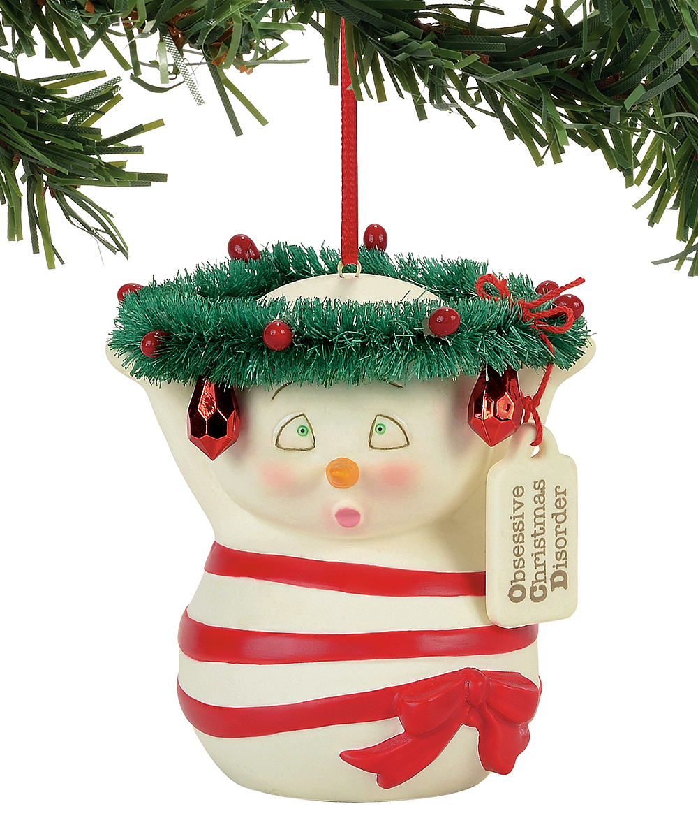Snowpinions Obsessive Christmas Disorder Ornament Zulily Christmas Ornaments Christmas Hanging Ornaments