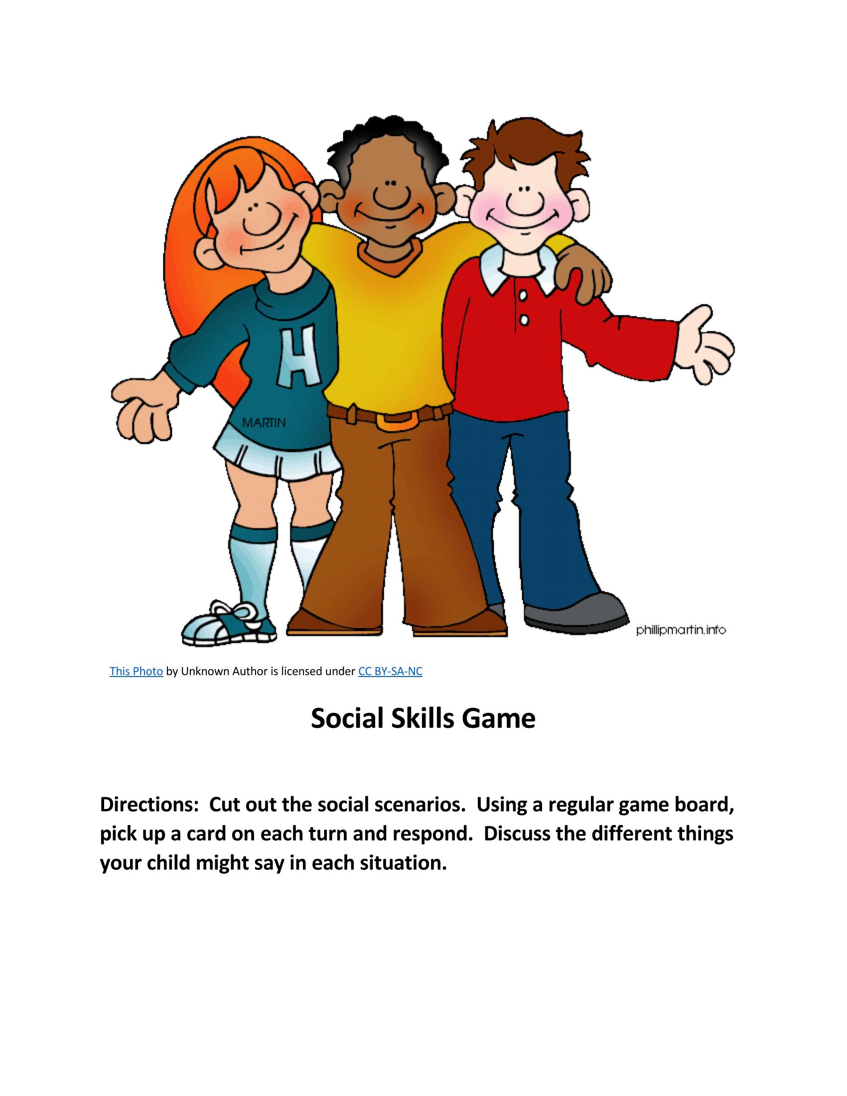 Social Skills Game