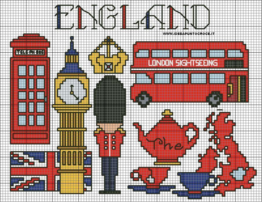 England Cross Stitch By Syra1974 On Deviantart Graficos