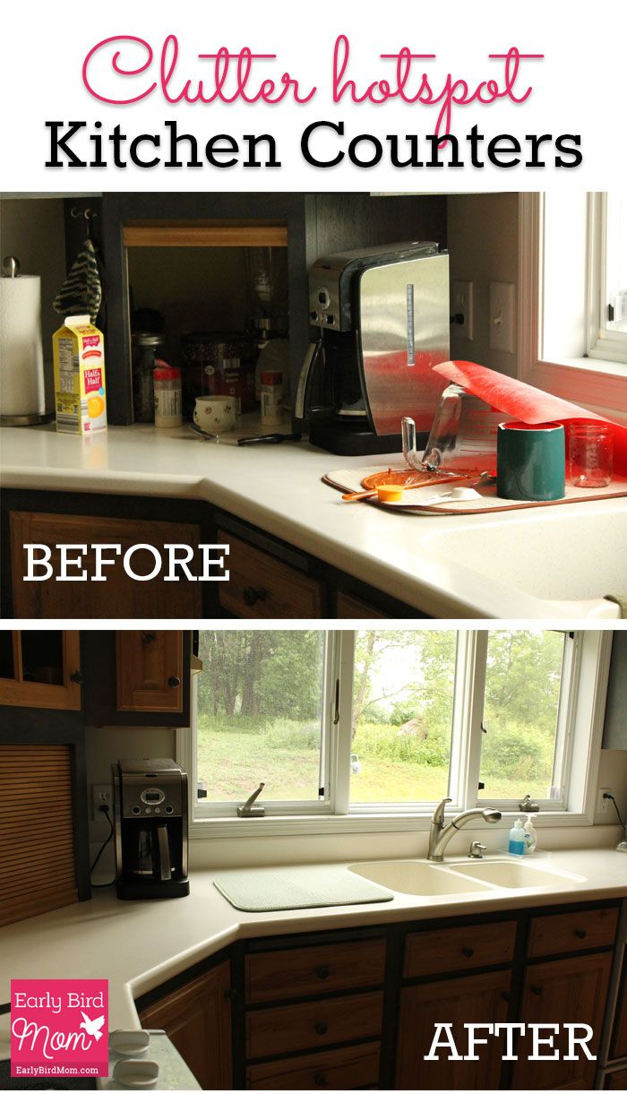 Clutter Hotspot Kitchen Counters Before And After Home