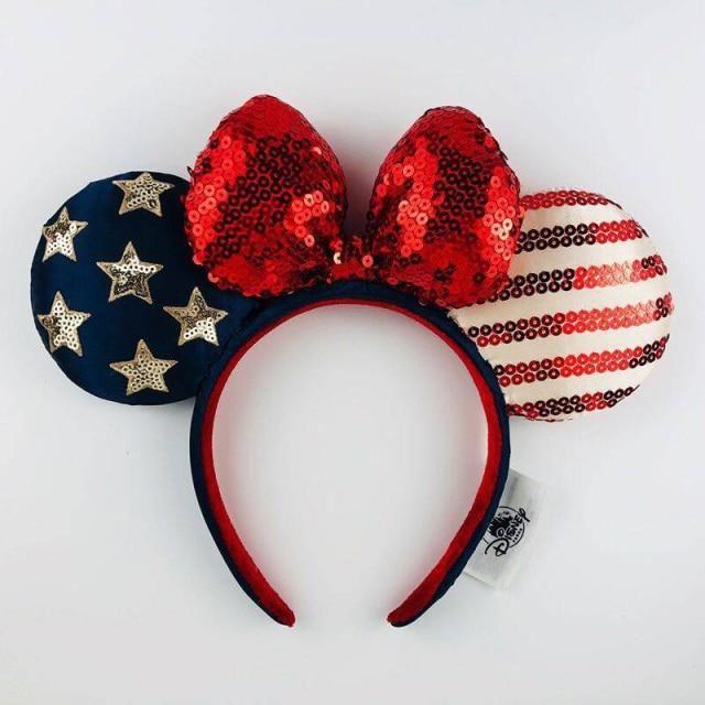 Photo of Disney Headband Minnie Ears For Women Mermaid Ariel Headdress Cartoon Anime Disneyland Mickey Mouse Bow Sequins Hair Hoop – J