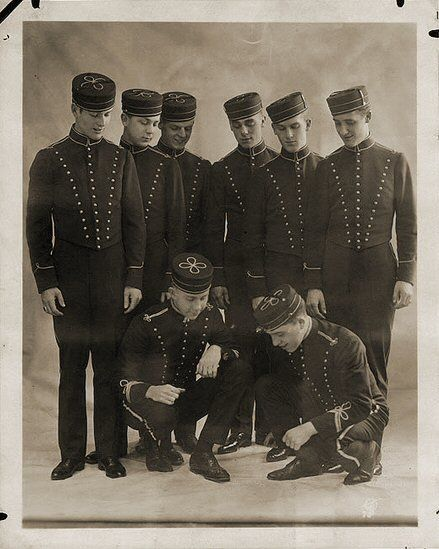 1920s Hotel Bellhops ~ I do believe they are playing dice . . . And ...
