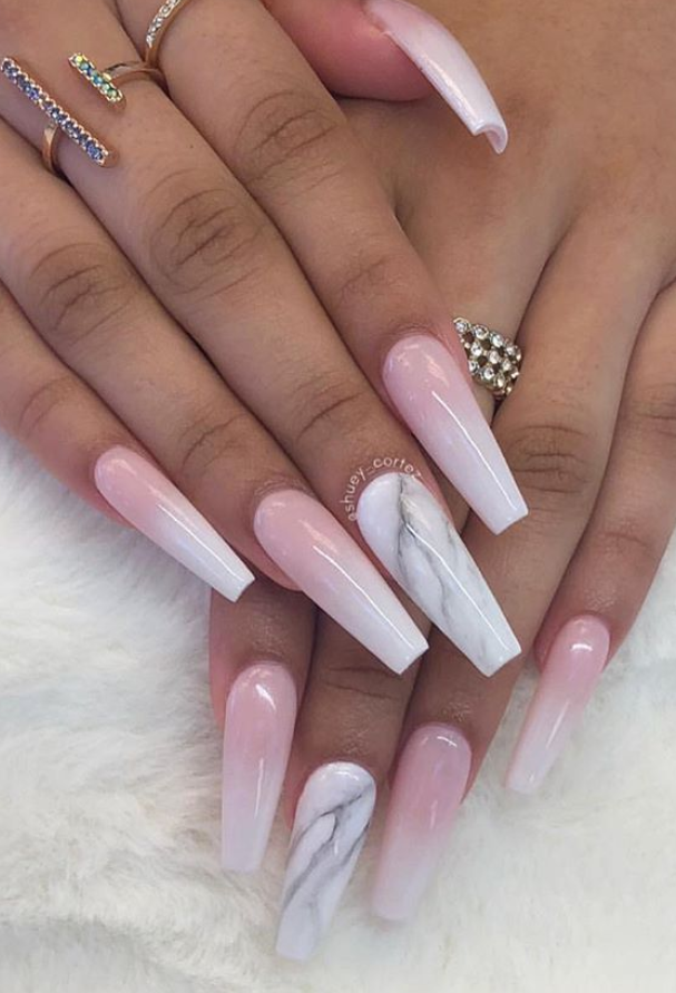 Pink Matte Coffin Nails Hottest And Trendy Ombre Coffin Nails Natural Coffin Nails Coffin Nai In 2020 Ombre Acrylic Nails Long Acrylic Nails Coffin Pink Ombre Nails