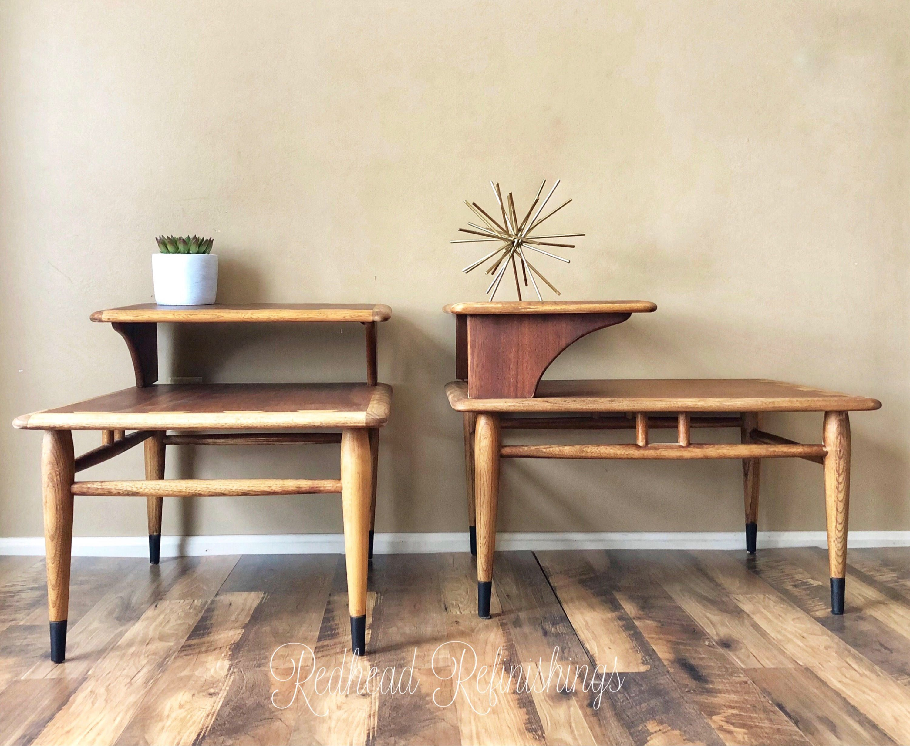 Mid century modern end tables, Lane Acclaim, nightstands, MCM ...