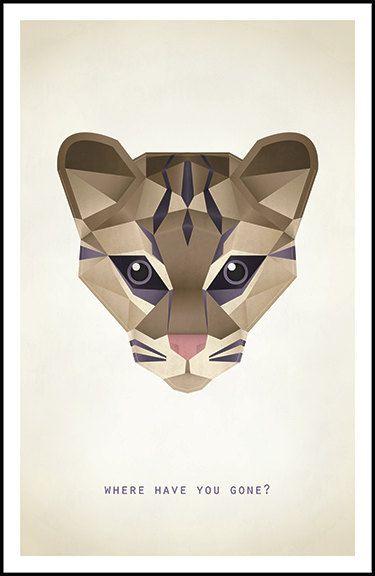 Phish Animal Head Poster Ocelot By Postopia On Etsy I Want