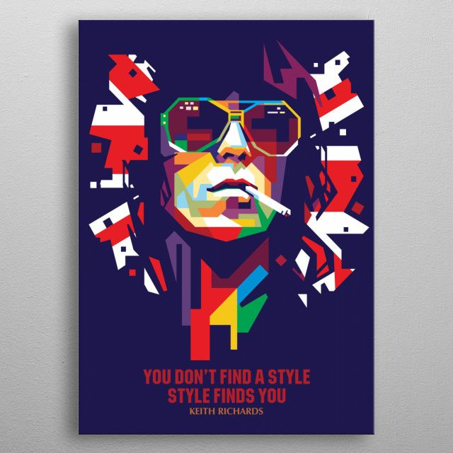 the Rollingstones Keith Richards | Displate thumbnail