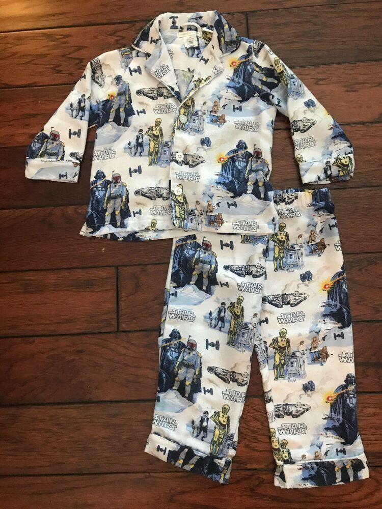 Pottery Barn Kids Toddler Boys Star Wars Pajamas 3t