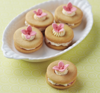For a sweet and fruity alternative, make a plain shortbread dough and sandwich the biscuits together with a fresh cream. Can you guess which one we've used here?  http://somethingsweetcollection.co.uk