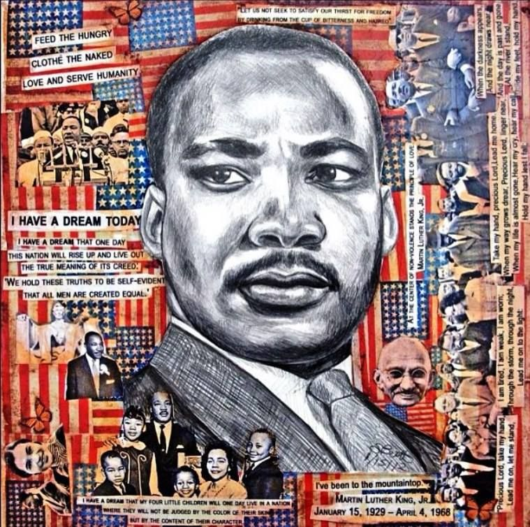 Would like to use this for a school mural, temporary or permanent, where a group of students draw Martin Luther King Jr. and the little ones colo… | Disegni, Colori