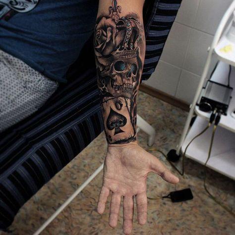 Tatuajes En Todo El Brazo Con Diseños Exclusivos Tatuaje En Todo El Brazo Tatuajes De Rey Tatuajes De Mangas Para Hombres