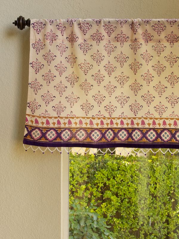 Sultans Palace (CP) ~ Moroccan Bohemian Print Window Valance | Our ...